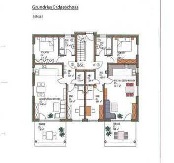Attraktive 3 ZKB-Erdgeschosswohnung mit Terrasse und Gartenanteil