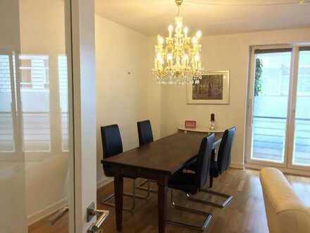Schöne möblierte/teilmöblierte 3-Zi-Wohnung mit Terrasse in Uhlenhorst