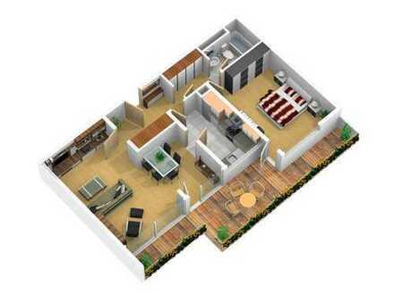 2,5-Zimmer-Wohnung mit großem Balkon und EBK in Hattersheim