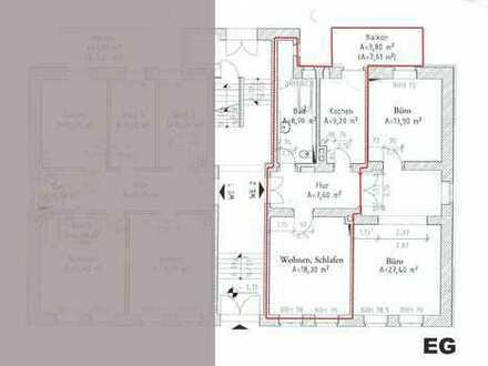 Möblierte Wohnung/WG warm ca. 45 qm im Bachviertel