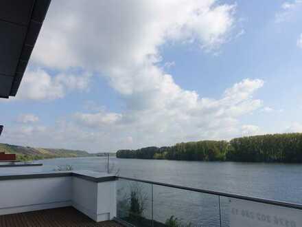 Traumhaftes Penthouse mit einmaligem Rheinblick in Nierstein