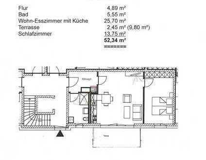 2-Zimmer-Wohnung mit Ost-Terrasse in Memmingen