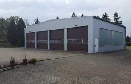 300qm große Werkstatthalle auf über 4300qm großem Grundstück - ohne Maklerprovision