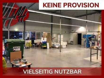 KEINE PROVISION ✓ NÄHE BAB 5 ✓ Lager-/Werkstatt (420 m²) & optional Büro (300-600 m²) zu vermieten
