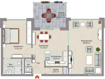 Erstbezug: exklusive 3-Zimmer-Wohnung mit Balkon mitten in Bad Neuenahr - barrierefrei