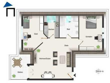 TOP 2 Zimmer Dachgeschosswohnung