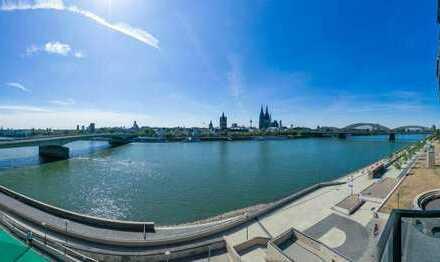 Traumblick auf den Dom und den Rhein