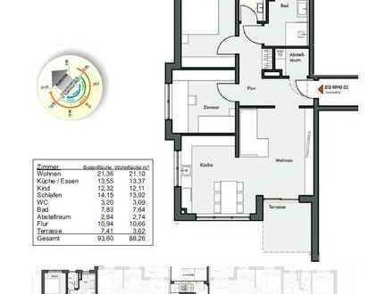 Wohnung 2 im EG / 88m² / 3,5 Zimmer
