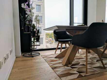 Exklusive, neuwertige 2-Zimmer-Wohnung mit Roofgarden und Fitness-Bereich im FRIENDS TOWER