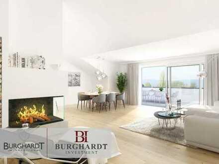 Frankfurt - Nieder-Erlenbach: NEUBAU 3 Zimmer Penthouse mit großer Dachterrasse und Taunusblick.