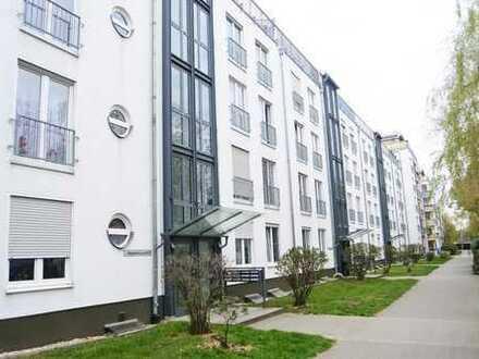 Schöne helle Wohnung im 4. OG mit Balkon in Leipzig Großzschocher, Lift, Laminat, SP mgl.