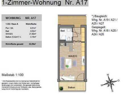 Exklusive, neuwertige 1-Zimmer-Wohnung mit Balkon und Einbauküche in Ingolstadt