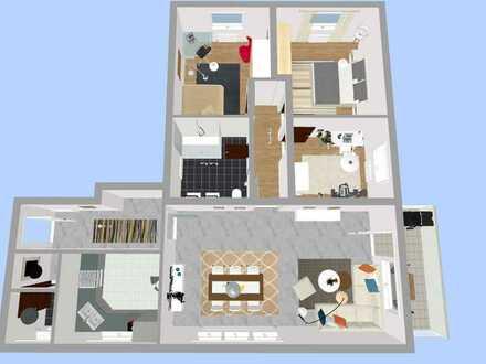 Helle und gepflegte 4-Zimmer-Wohnung mit Balkon und Einbauküche in Haueneberstein