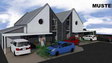 4 geplante Doppelhaushälften mit Garage in Duisburg