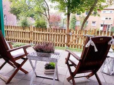 Sonnige 2-Zimmer-Wohnung mit Terrasse (35 qm) und EBK in Lüneburg