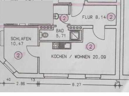 2-Zimmerwohnung Stadtmitte