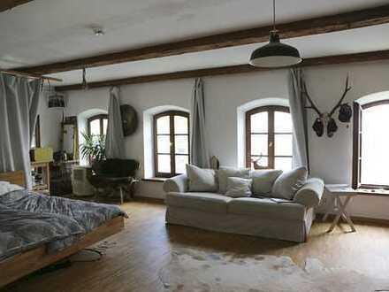 Attraktive große sanierte Altbau-Wohnung/Atelier/Büro, Innenstadtkern, hell