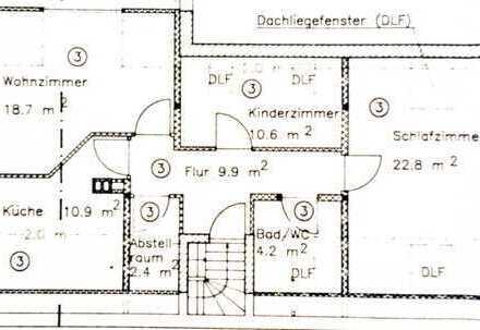 Freundliche 3-Zimmer-Dachgeschosswohnung mit Einbauküche in Moosburg