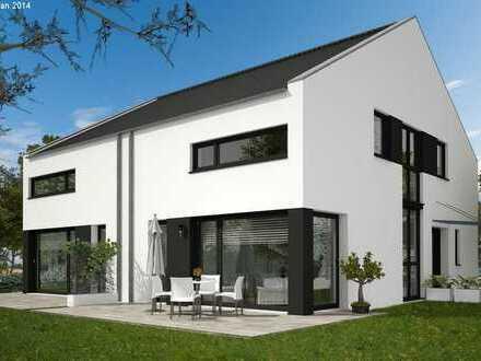 Auf der grünen Wiese gebaut! Schlüsselfertige Doppelhaushälfte, individuell planbar!