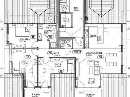 Stilvolle 4-Zimmer-DG-Wohnung mit EBK und 2 Balkonen in Herrenberg-Affstätt