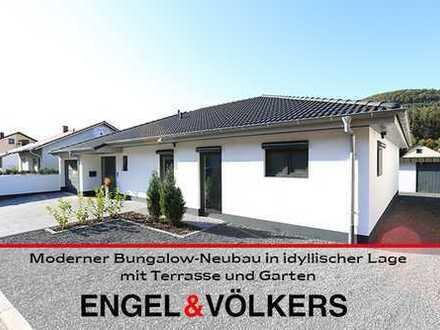 Moderner Bungalow-Neubau in idyllischer Lage mit Terrasse und Garten