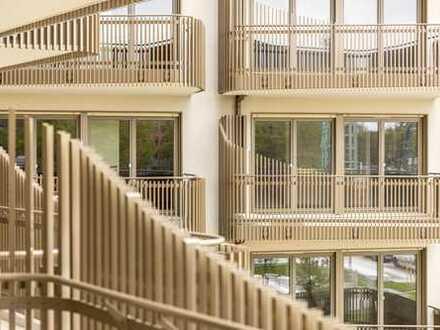Neubau - Erstbezug * tolles voll möbliertes Apartment mit großem Westbalkon direkt an U5/U7