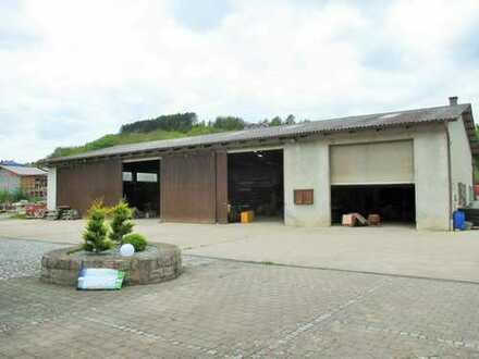 Bau und Maschinenhalle mit großem Grundstück in Boxberg