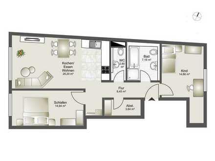 Neubau 8 Familienhaus-Zentrumsnahme ab 2,5 Zi. bis 4,5 Zi. ETW Whg. 1
