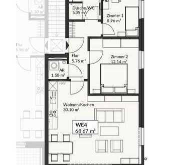 Gehobener Neubau-Wohnkomfort erwartet Sie hier, direkt am Wasser!