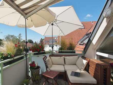 Komfortable und ruhig gelegene Drei-Zimmer-Wohnung mit Balkon in Stuttgart-Degerloch