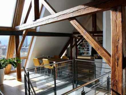 Außergewöhnliche, sehr helle 3-Zimmer Dachgeschoss-Wohnung zu verkaufen