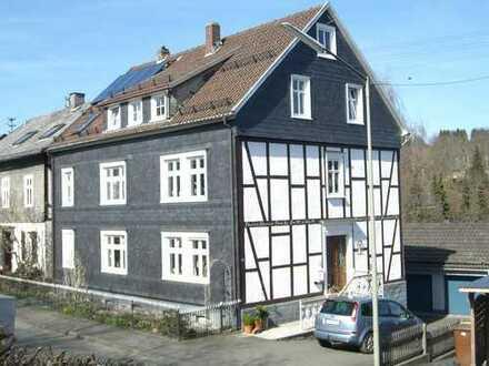 Schöne DG-Wohnung 3ZKB (69qm, renoviert) in gepflegtem Fachwerkhaus (Stadtmitte, trotzdem ruhig)
