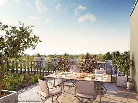 Ideal geschnittene 3-Zi.-Balkonwohnung in Westausrichtung mit ca. 30 m² großem Wohn-Ess-Kochbereich