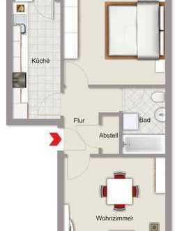Mülheim an der Ruhr- Styrum! 2- Zimmer Wohnung mit Balkon!