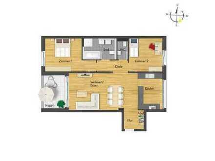 Traumhafte 3-Zimmer-Wohnung mit großzügigem Wohnbereich