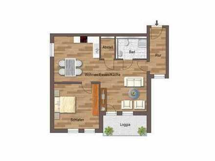 Barrierefreie 2-Zimmer-Wohnung mit Süd-Loggia