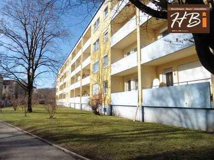 Zur Kapitalanlage! Hochparterre in der Wertachschleife - 2-Zimmer-ETW mit Balkon