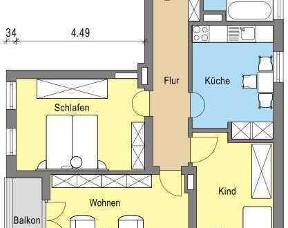 Schöne 3-Zimmer Wohnung 1.OG