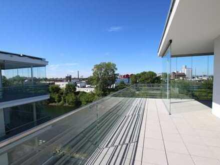 3 ZKB Penthouse-Wohnung: 170m² Lifestyle pur! mit exklusivem Wohnambiente direkt am Wasser