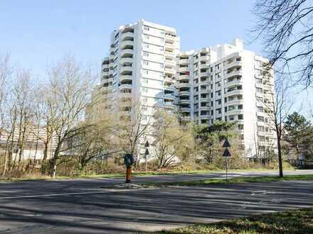 Helle, gut geschnittene 2-Zi.-Wohnung mit herrlichem Ausblick und TG-Stellplatz in Darmstadt