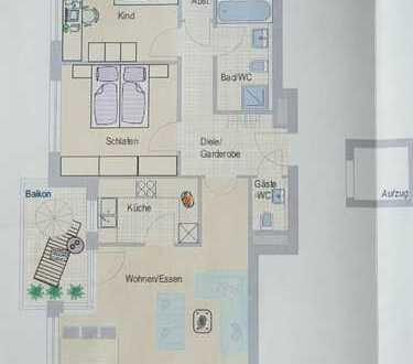 Neuwertige 3-Zimmer-Wohnung mit Balkon, EBK, Keller und Garagenplatz in Benningen am Neckar