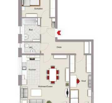 Hochwertige Neubau-3-Zimmer-Wohnung mit Balkon auf parkähnlichem Grundstück in angenehmer Lage in 5