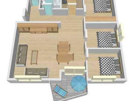 * 4,5 Zi.-Eck-Wohnung in ruhiger Lage mit Garage + Stellplatz