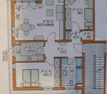 Schöne drei Zimmer Wohnung in Kaufering mit Garten