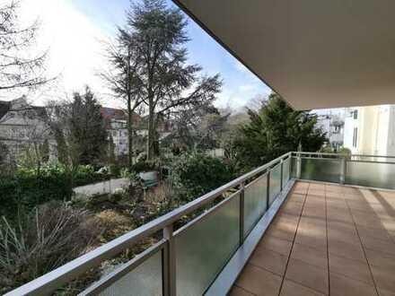Schlossallee! - Stilvolle, gepflegte Wohnung, 2 Tageslicht-Bäder, Fußbodenheizung, TG-Stellplatz