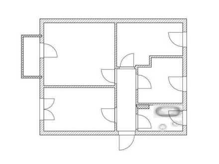 3-Raum-Whg mit Balkon, E-Herd und Spüle sofern gewünscht