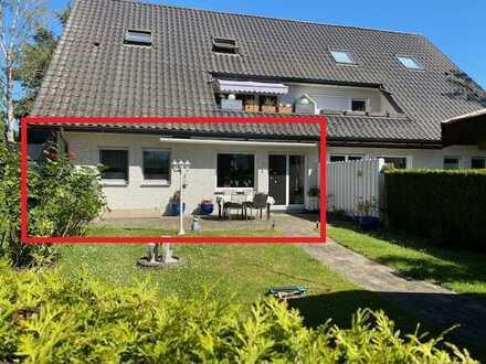 RESERVIERT! Erdgeschoss- Eigentumswohnung mit Garten & Garage in Blumenkamp!