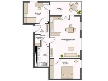 Geschmackvolle Wohnung mit drei Zimmern sowie Balkon und EBK in Mannheim
