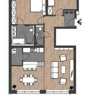 Erstbezug: Luxuriöses 3-Zimmer-Penthouse mit hochwertiger Ausstattung und großem Balkon in Citylage