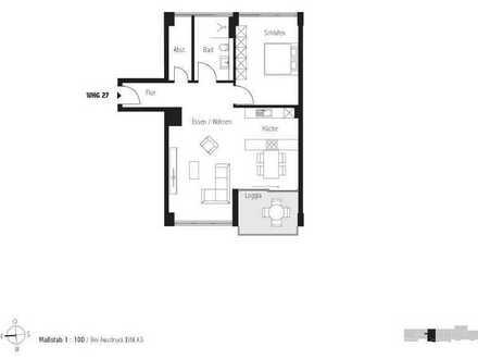 Besichtigung jeden Samstag 11:00 - 12:00Uhr; Großzügiges 2-Zimmer Penthouse (Whg. 27)